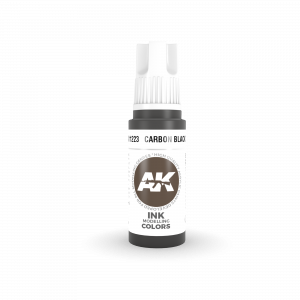 AKI11223 - AK Interactive Carbon Black Ink - 17mL Bottle - Acrylic / Water Based