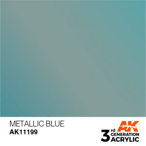 AKI11199 - AK Interactive Metallic Blue - 17mL Bottle - Acrylic / Water Based