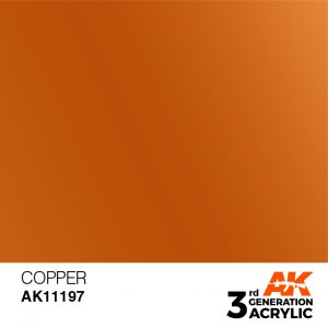 AKI11197 - AK Interactive Copper - 17mL Bottle - Acrylic / Water Based - Flat