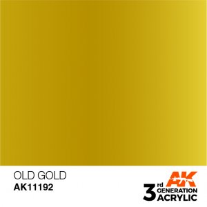 AKI11192 - AK Interactive Old Gold - 17mL Bottle - Acrylic / Water Based