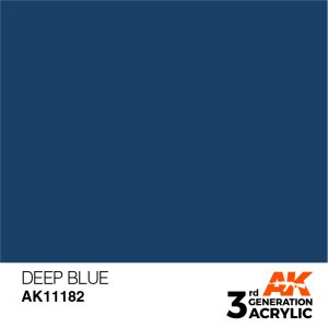 AKI11182 - AK Interactive Deep Blue - 17mL Bottle - Acrylic / Water Based