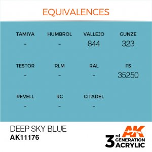 AKI11176 - AK Interactive Deep Sky Blue - 17mL Bottle - Acrylic / Water Based