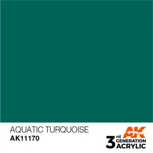 AKI11170 - AK Interactive Aquatic Turquoise - 17mL Bottle - Acrylic / Water Based