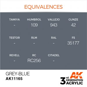 AKI11165 - AK Interactive Grey Blue - 17mL Bottle - Acrylic / Water Based