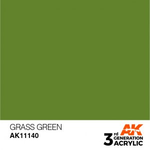 AKI11140 - AK Interactive Grass Green - 17mL Bottle - Acrylic / Water Based