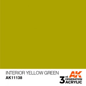 AKI11138 - AK Interactive Interior Yellow Green - 17mL Bottle - Acrylic / Water Based