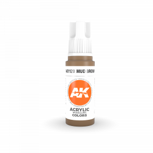 AKI11120 - AK Interactive Mud Brown - 17mL Bottle - Acrylic / Water Based