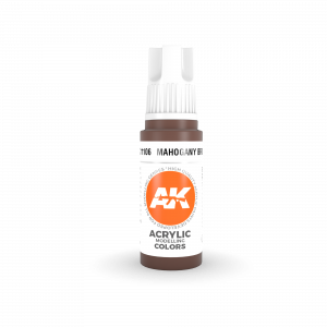 AKI11106 - AK Interactive Mahogany Brown - 17mL Bottle - Acrylic / Water Based