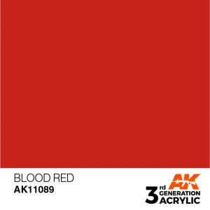 AKI11089 - AK Interactive Blood Red - 17mL Bottle - Acrylic / Water Based
