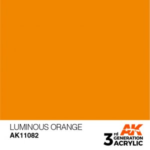 AKI11082 - AK Interactive Luminous Orange  - 17mL Bottle - Acrylic / Water Based
