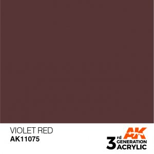 AKI11075 - AK Interactive Violet Red - 17mL Bottle - Acrylic / Water Based