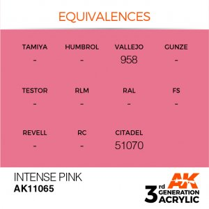 AKI11065 - AK Interactive Intense Pink - 17mL Bottle - Acrylic / Water Based - Flat