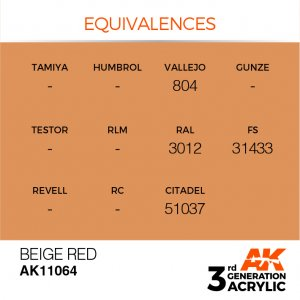 AKI11064 - AK Interactive Beige Red - 17mL Bottle - Acrylic / Water Based