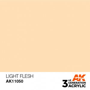AKI11050 - AK Interactive Light Flesh - 17mL Bottle - Acrylic / Water Based