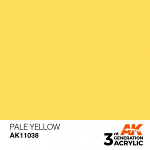 AKI11038 - AK Interactive Pale Yellow - 17mL Bottle - Acrylic / Water Based