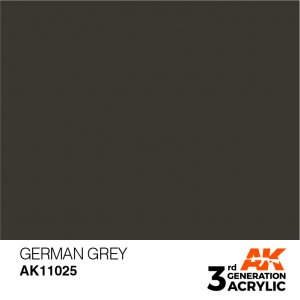 AKI11025 - AK Interactive German Grey - 17mL Bottle - Acrylic / Water Based