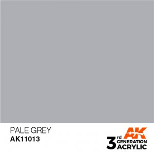 AKI11013 - AK Interactive Pale Grey - 17mL Bottle - Acrylic / Water Based - Flat