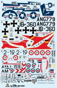 ITA2799 - Italeri 1/48 F-86E Sabre [Decals for 4 Versions] [Canadian content] (Decals for 4 Versions)
