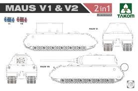 TKM2050X - Takom 1/35 MAUS V1 & V2 (2IN1) [LTD.ED.]