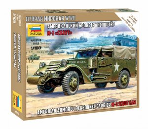ZVE6245 - Zvezda 1/100 M-3 Scout Car American Armored Personnel Carrier - Snap-Fit