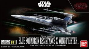 BAN0219553 - Bandai 1/144 Star Wars: Blue Squadron Resistance X-Wing Fighter - Wehicle Model 011