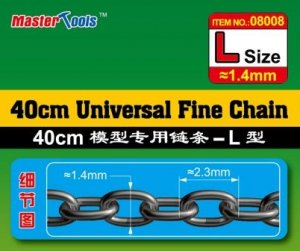 TRP08008 - Trumpeter 40cm Universal Fine Chain ( Size: Large 1.4mm x 2.3mm )
