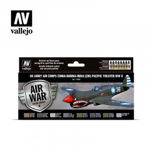VLJ71184 - Vallejo Type - Air War Sets: US Army Air Corps China-Burma-India (CBI) Pacific Theather WWII (8 pieces) - Acrylic / Water Based