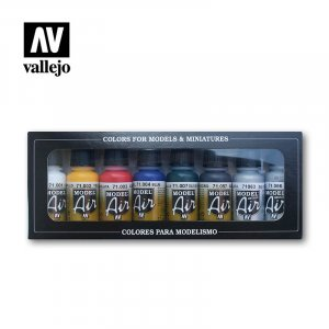 VLJ71174 - Vallejo Type - Basic Sets: Basic Colors (8 pieces) - Acrylic / Water Based