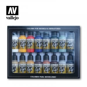 VLJ71178 - Vallejo Type - Basic Sets: Basic Colors (16 pieces) - Acrylic / Water Based