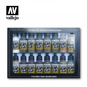 VLJ71190 - Vallejo Type - AFV Sets: German/Allied WWII (16 pieces) - Acrylic / Water Based
