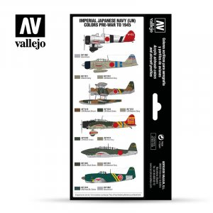 VLJ71169 - Vallejo Type - Air War Sets: Imperial Japanese Navy (IJN) colors pre-war to 1945 (8 pieces) - Acrylic / Water Based