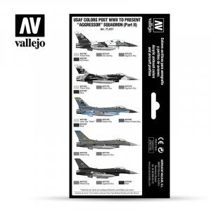 "VLJ71617 - Vallejo Type - Air War Sets: USAF colors post WWII to present ""Aggressor"" Squadron (Part II) (8 pieces) - Acrylic / Water Based"