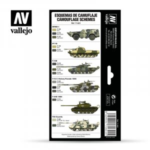 VLJ71621 - Vallejo Type - AFV Sets: Cold War & Modern Russian Green Patterns (8 pieces) - Acrylic / Water Based
