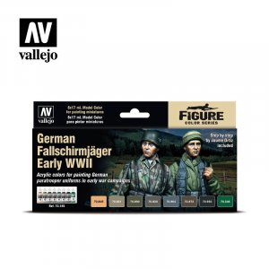 VLJ70185 - Vallejo Type - Figure Sets: German Fallschirmjager Early WWII (8 pieces) - Acrylic / Water Based