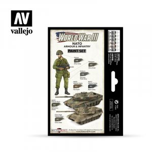VLJ70223 - Vallejo Type - Wargames Sets: WWIII NATO Armour & Infantry (6 pieces) - Acrylic / Water Based
