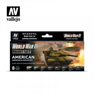 VLJ70220 - Vallejo Type - Wargames Sets: WWIII American Armour & Infantry (8 pieces) - Acrylic / Water Based