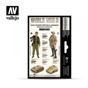 VLJ70208 - Vallejo Type - Wargames Sets: WWII Desert British & German Armour & Infantry (6 pieces) - Acrylic / Water Based