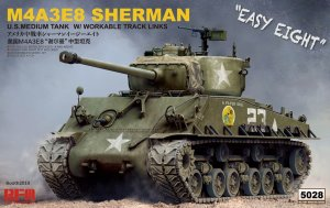 "RYERM-5028 - Rye Field Model 1/35 M4A3E8 Sherman ""Easy Eight"" w/Workable Track Links and Torsion Bars"
