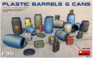 MIA35590 - Miniart 1/35 Plastic Barrels and Cans