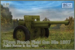 IBG35057 - IBG 1/35 MLE 1897 FRENCH 75MM FIELD GUN POLISH FORCES IN THE WEST