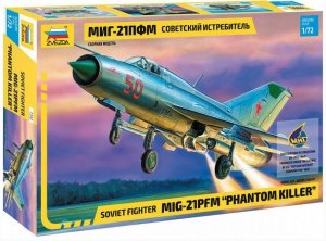 "ZVE7202 - Zvezda 1/72 MiG-21PFM Soviet Fighter ""Phantom Killer"""