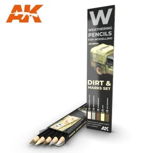 AKIAK10044 - AK Interactive Pencil set: Dirt & Mark
