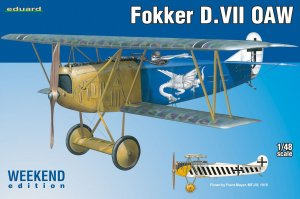EDU84155 - Eduard Models 1/48 FOKKER D.VII OAW [WEEKEND ED.]