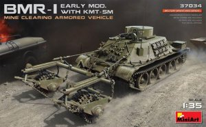 MIA37034 - Miniart 1/35 BMR-I Early Mod. With KMT-5M - Mine Clearing Armored Vehicle
