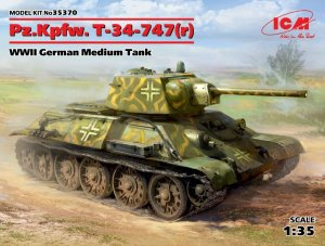 ICM35370 - ICM 1/35 Pz.Kpfw.747 T-34( r ) - WW II German Medium Tank
