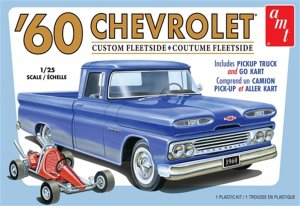AMT1063 - AMT 1/25 1960 CHEVY FLEETSIDE W/GOKART