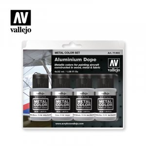 VLJ77603 - Vallejo Type - Metal Color Sets: Aluminium Dope (4 pieces) - Acrylic / Water Based