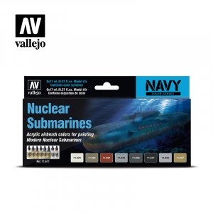 VLJ71611 - Vallejo Type - Navy Sets: Nuclear Submarines (8 pieces) - Acrylic / Water Based