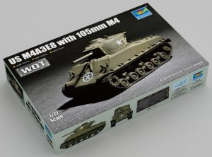TRP07168 - Trumpeter 1/72 US M4A3E8 with 105mm M4 [ WOT ]