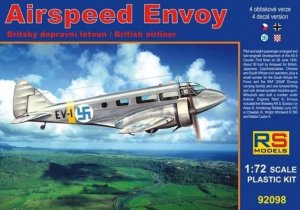 RSM92098 - RS Models 1/72 AIRSPEED ENVOY (BRITISH AIRLINER) GER/CZE/ROM/FIN MARKINGS